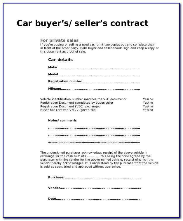 Used Car Sales Receipt Template Australia