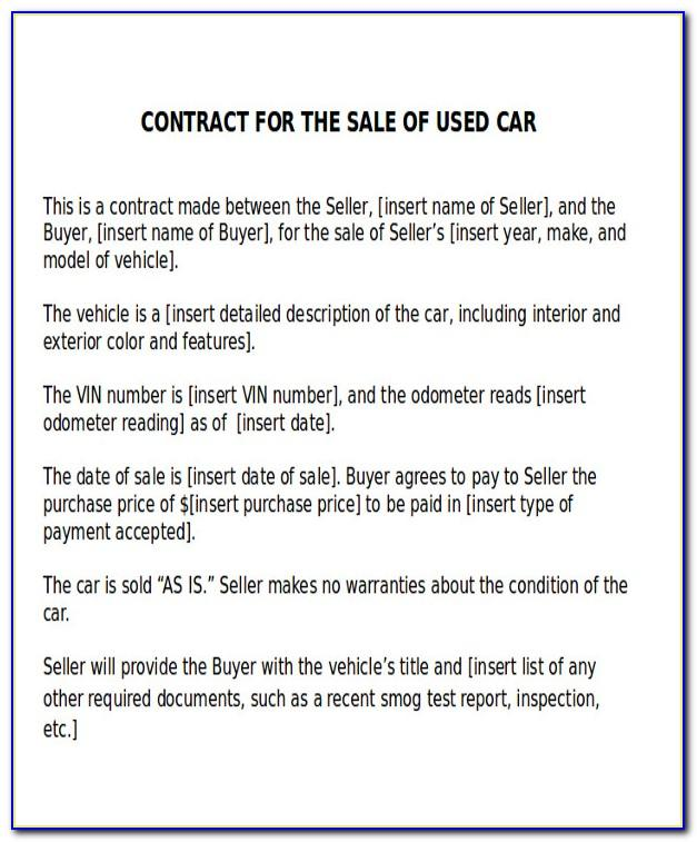 Used Car Sales Receipt Template Uk