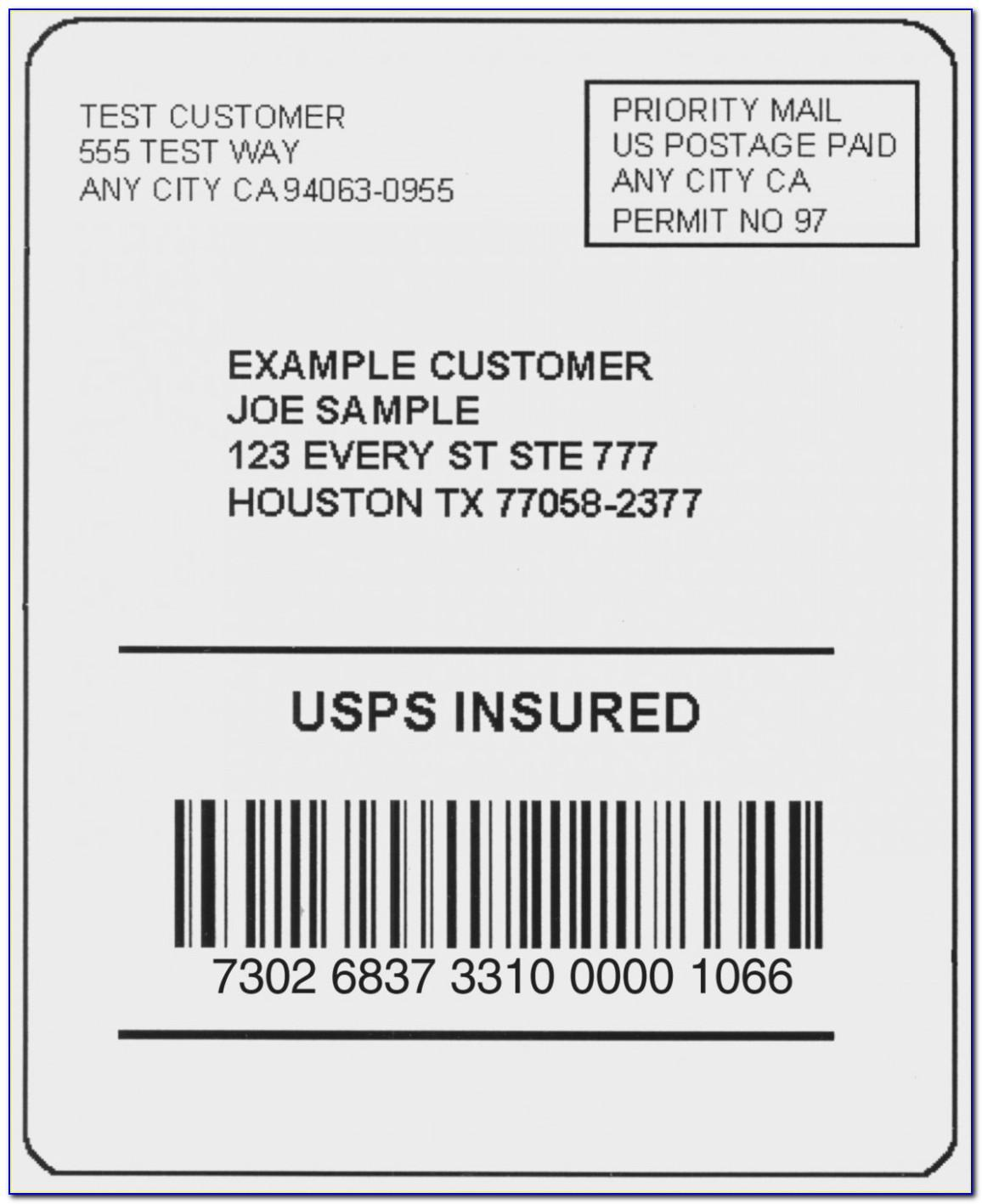 Usps Address Label Format