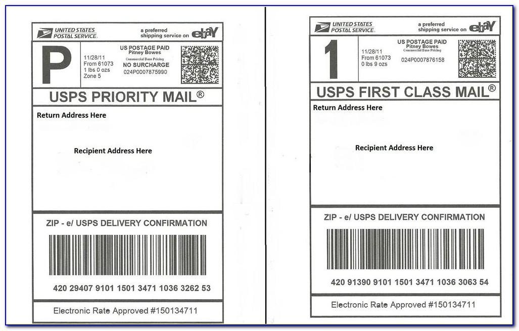 Usps Priority Mail Label 228 Word Template
