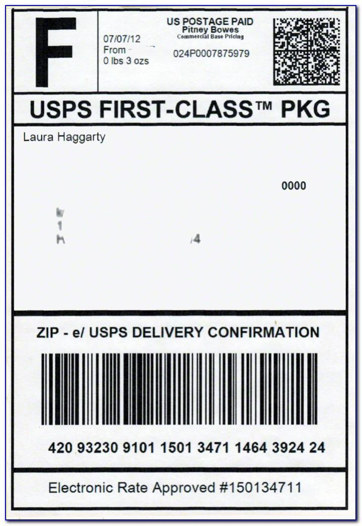 Usps Shipping Label Format
