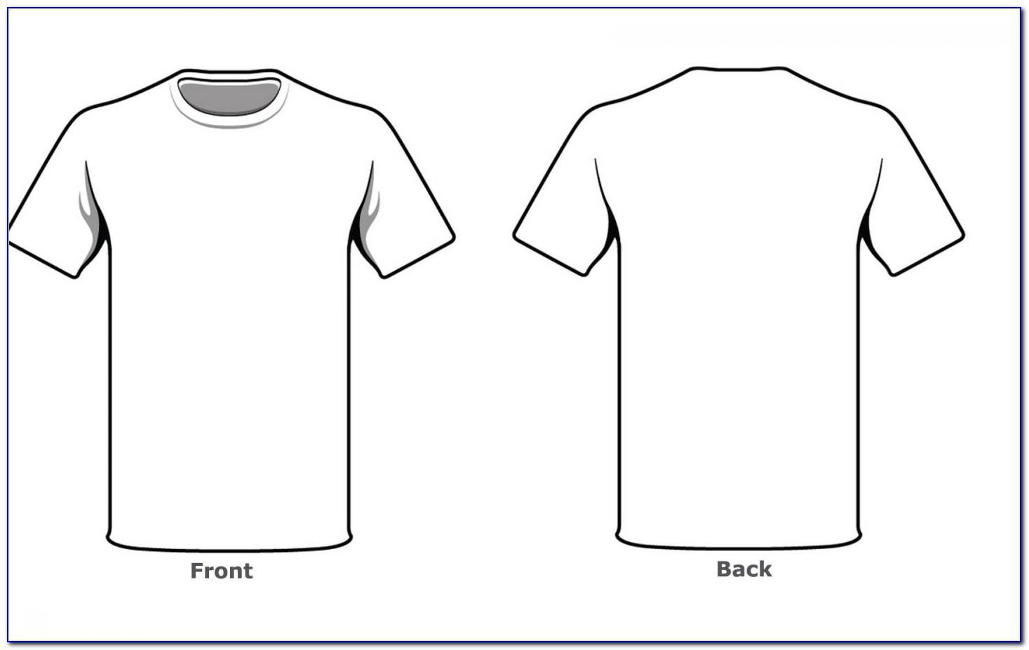 V Neck T Shirt Design Template Photoshop