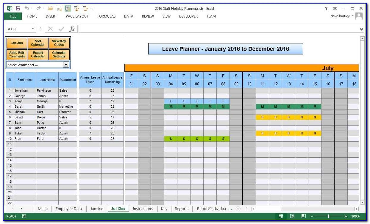 Vacation Accrual Template Excel