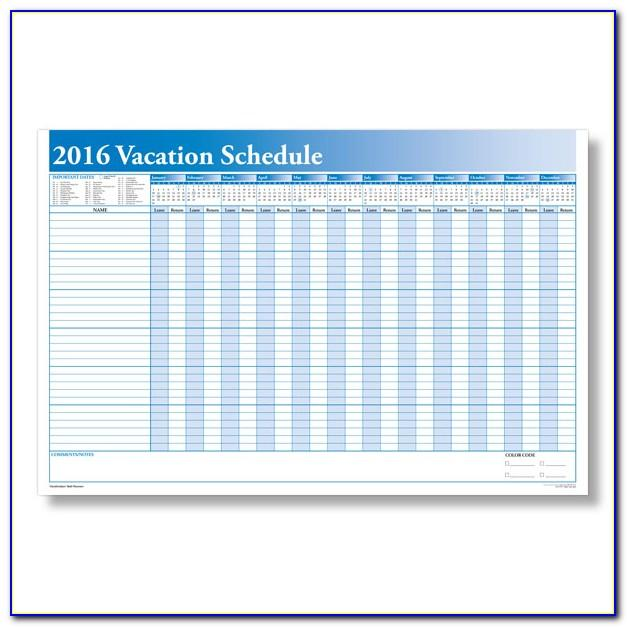 Vacation Calendar Sample Excel