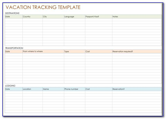 Vacation Planning Calendar Template 2016