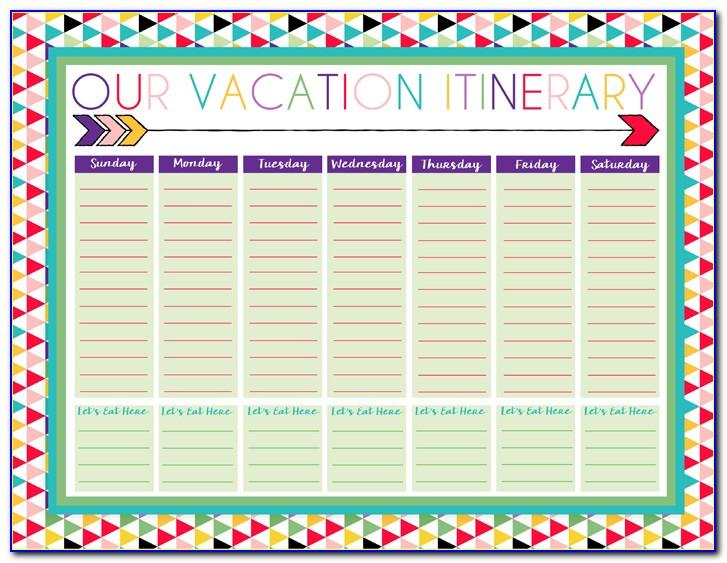 Vacation Schedule Excel Template 2017