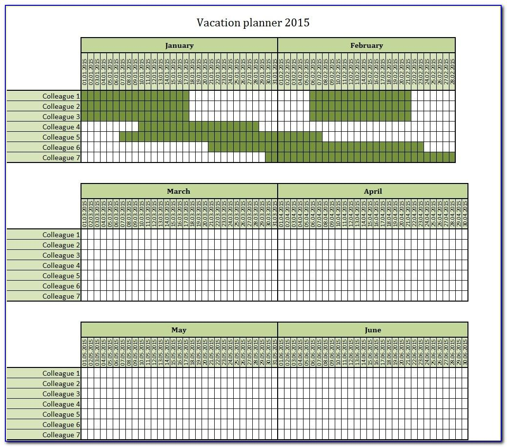 Vacation Schedule Template Excel 2015 Canada