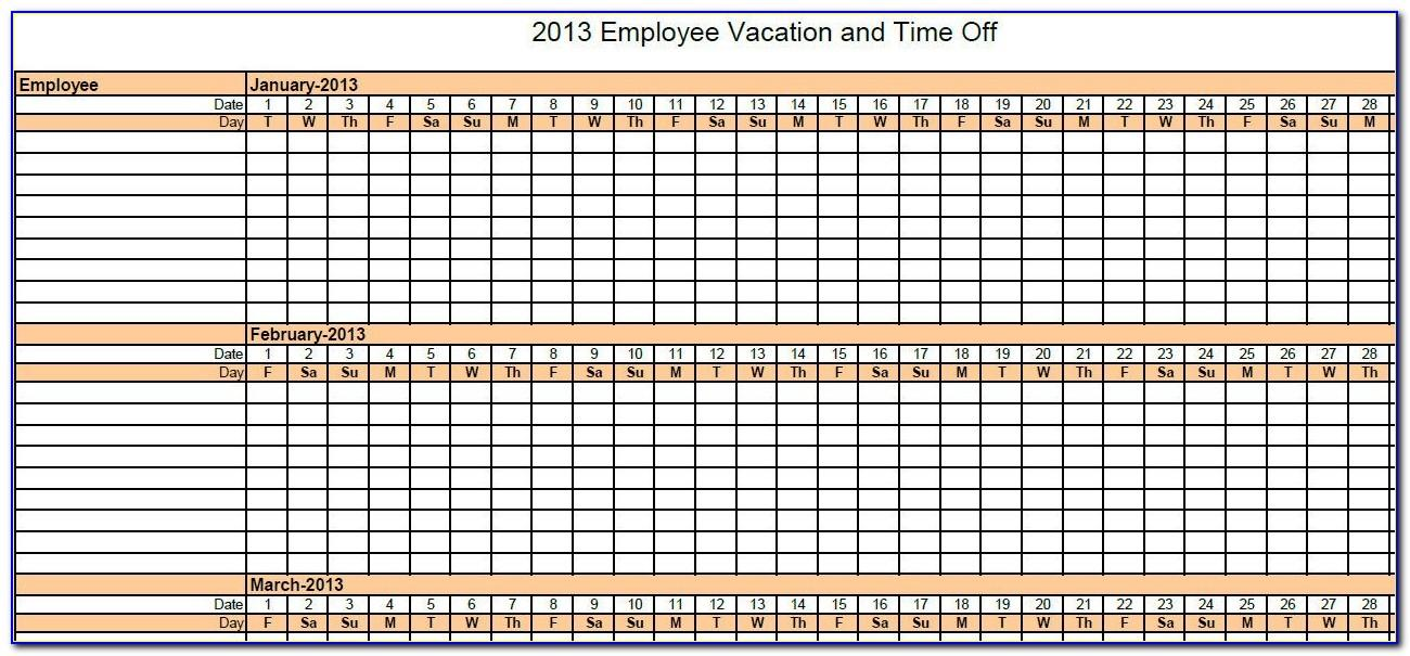 Vacation Tracker Template 2016