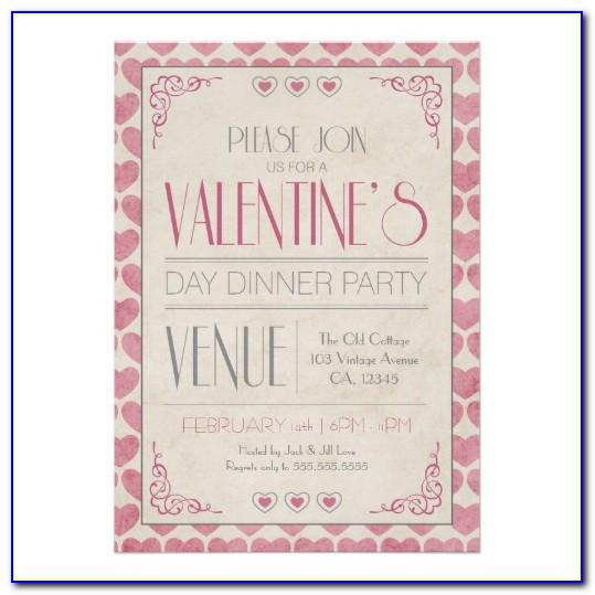 Valentines Dinner Invitation Templates