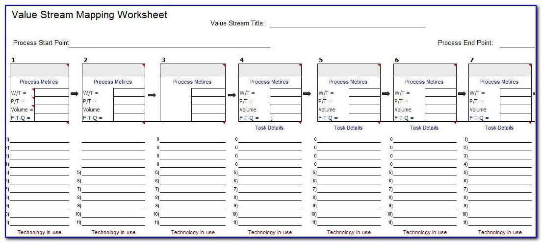 Value Stream Map Template Visio