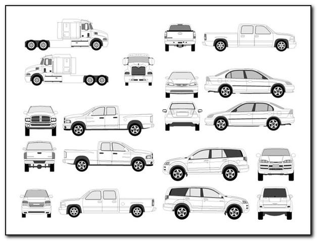 Vector Vehicle Graphics Templates