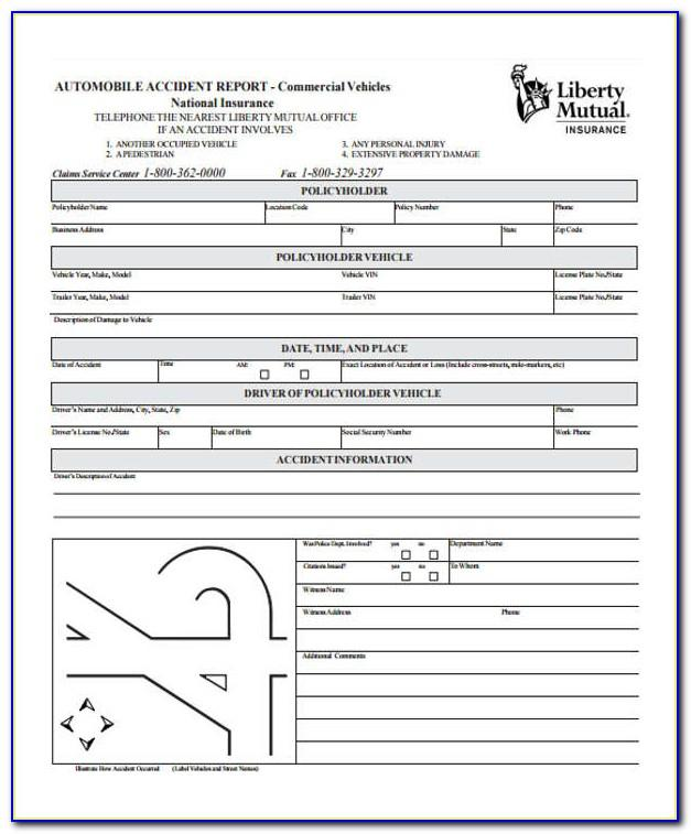 Vehicle Accident Report Form Uk