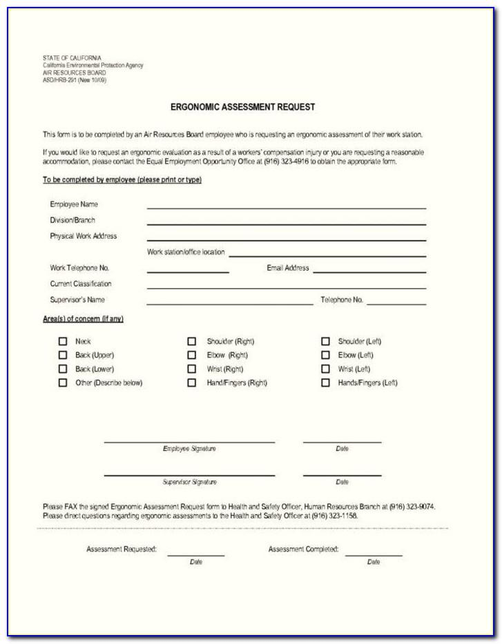 Vehicle Ergonomic Assessment Template