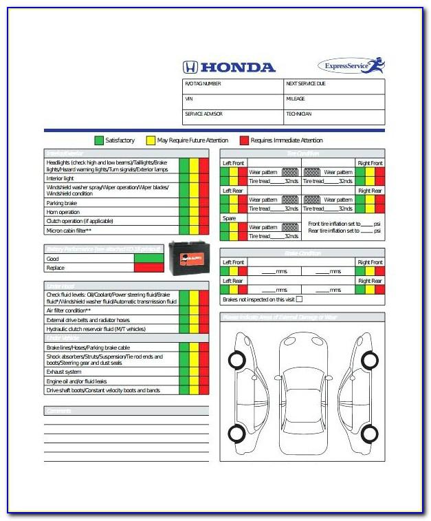 Vehicle Inspection Sheets Pdf