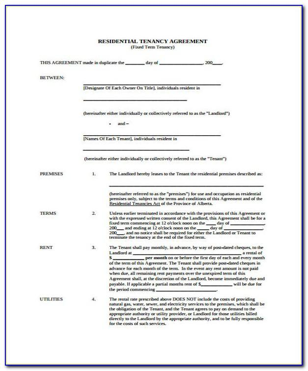 Vehicle Lease Agreement Template Canada
