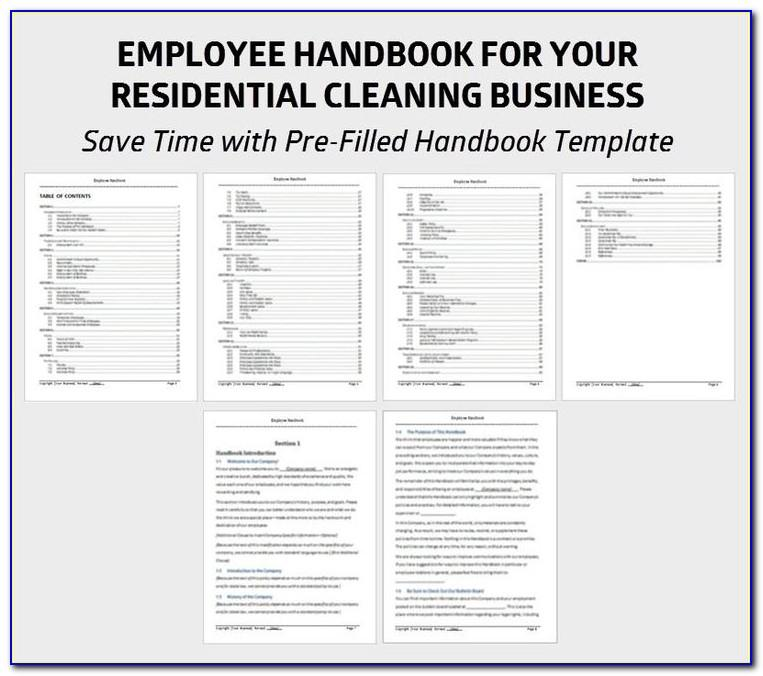 Word Template For Employee Handbook