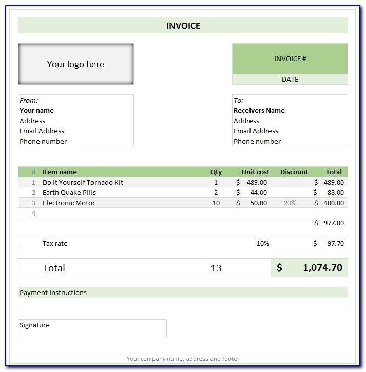Word Template For Invoice Microsoft Office
