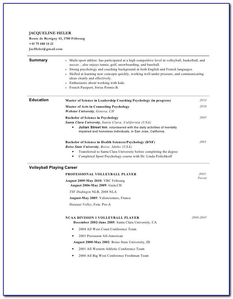 Youth Resume Template Australia