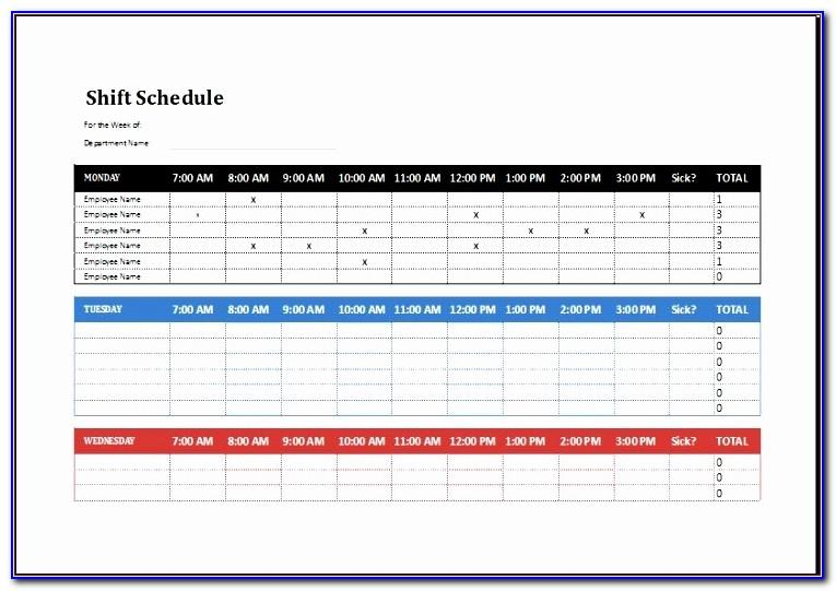 12 Hour Shift Schedule Template Excel