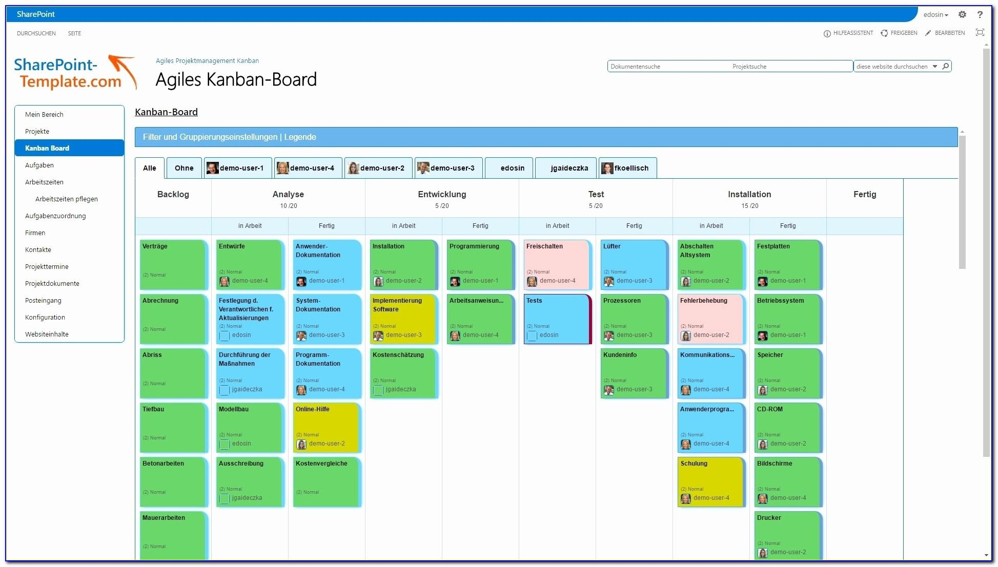 Agile Scrum Board Template Excel