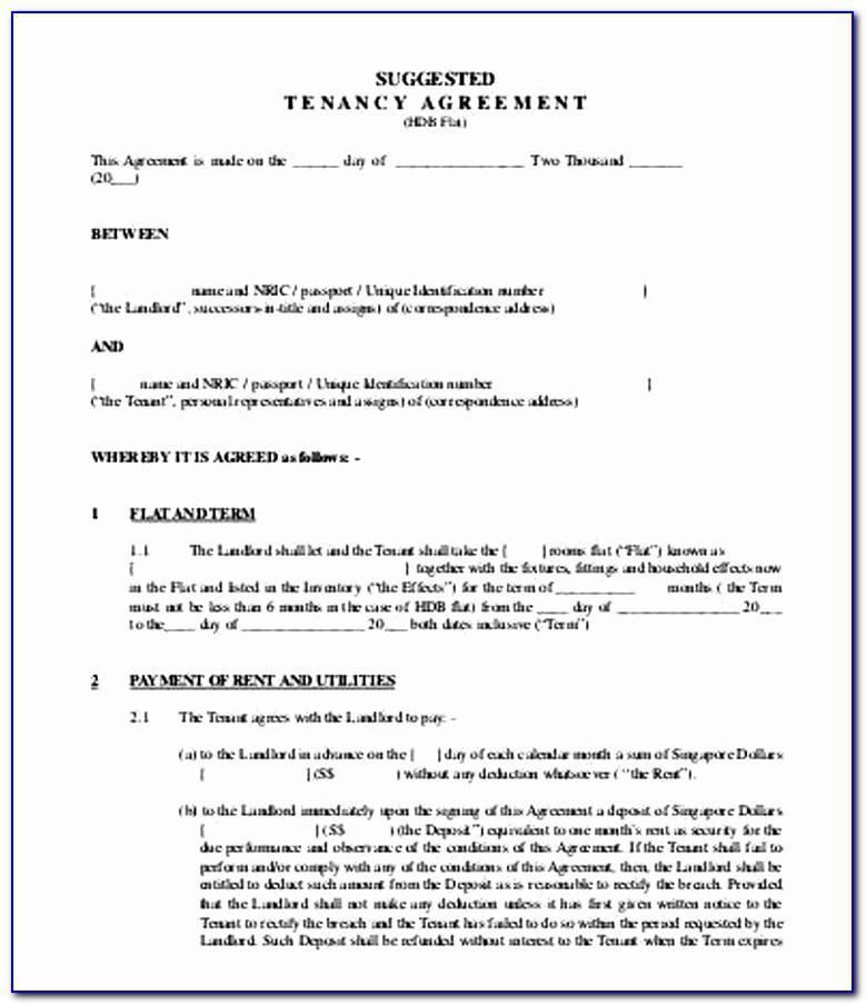 Assured Shorthold Tenancy Agreement Template Nla