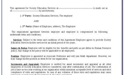 Basic Employment Contract Template Australia