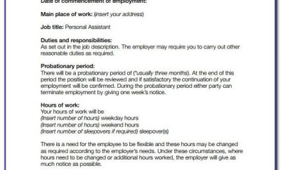 Basic Employment Contract Template Free