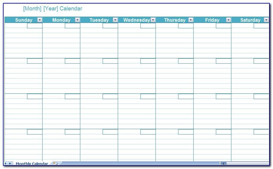 Calendar Schedule Template 2019 Excel