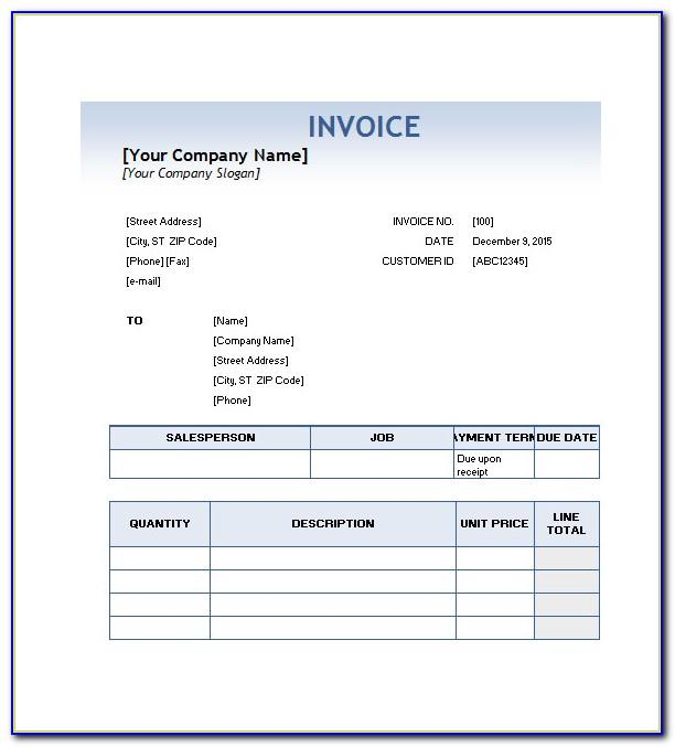 Car Service Invoice Template Word