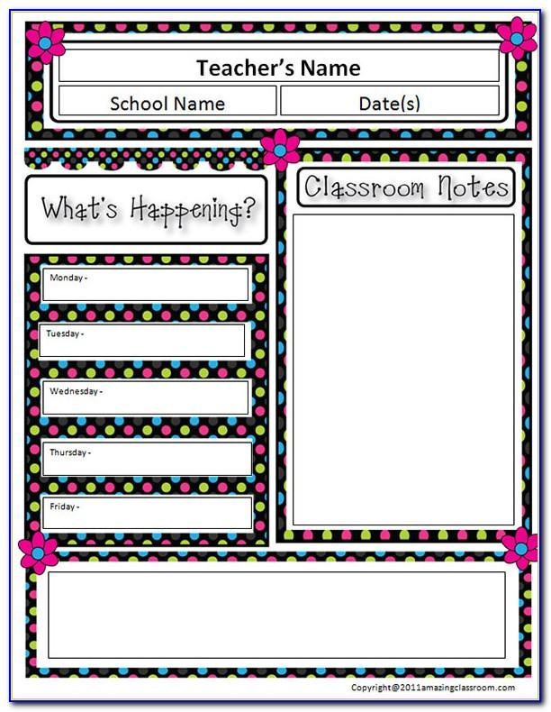 Classroom Newsletter Templates Word