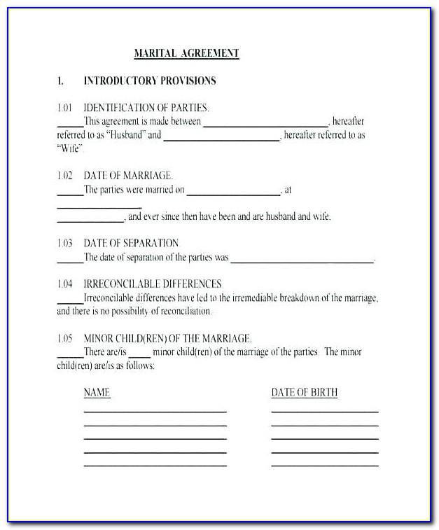 Common Law Separation Agreement Template Bc