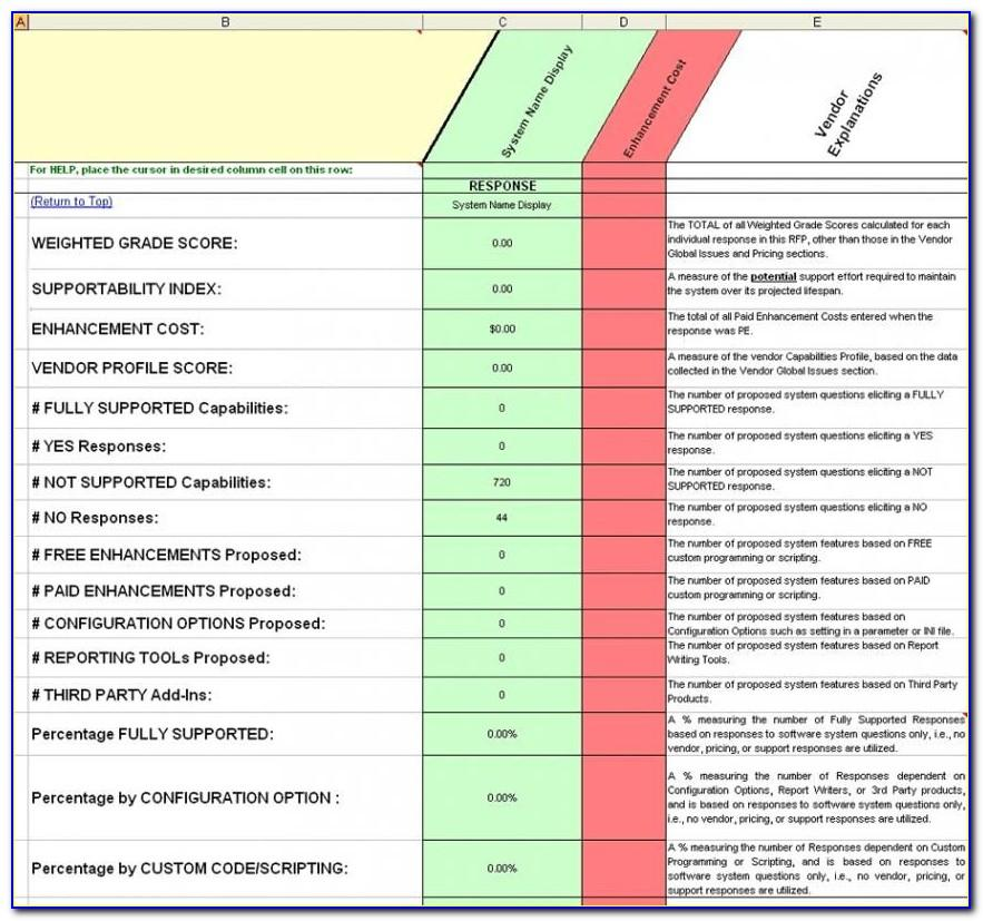Crm Software Selection Rfp Template