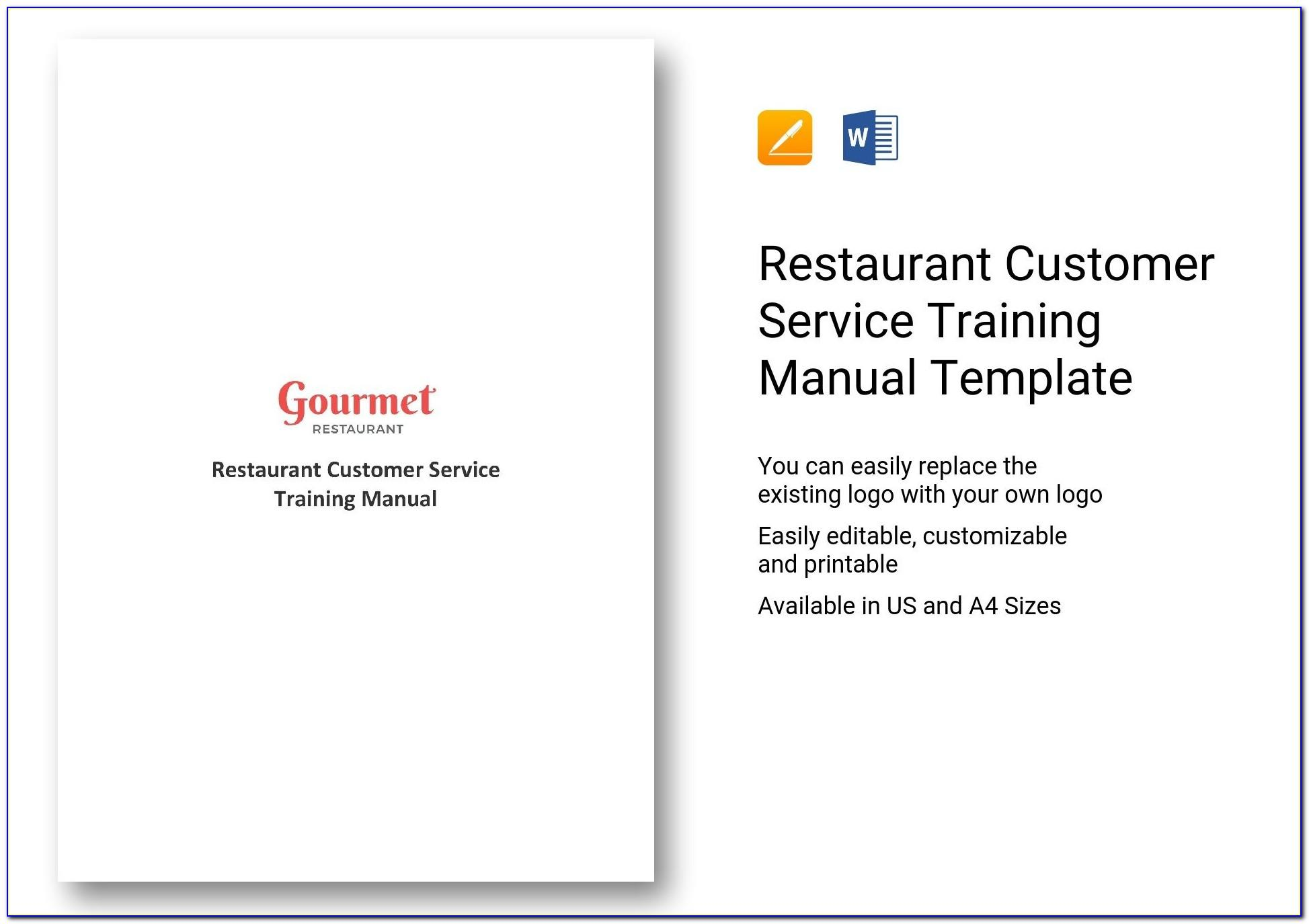 Customer Service Training Manual Examples