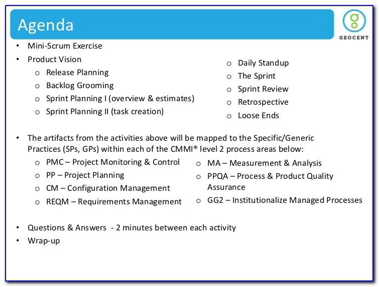 Daily Scrum Meeting Agenda Template