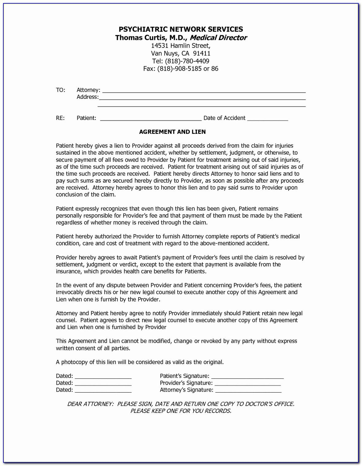 Debt Settlement Agreement Letter Sample