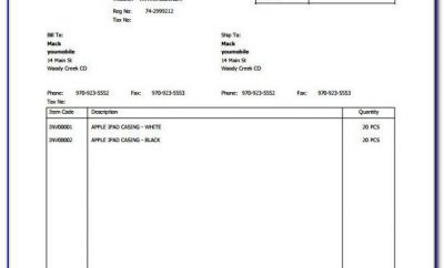 Download Free Shipping Invoice Template