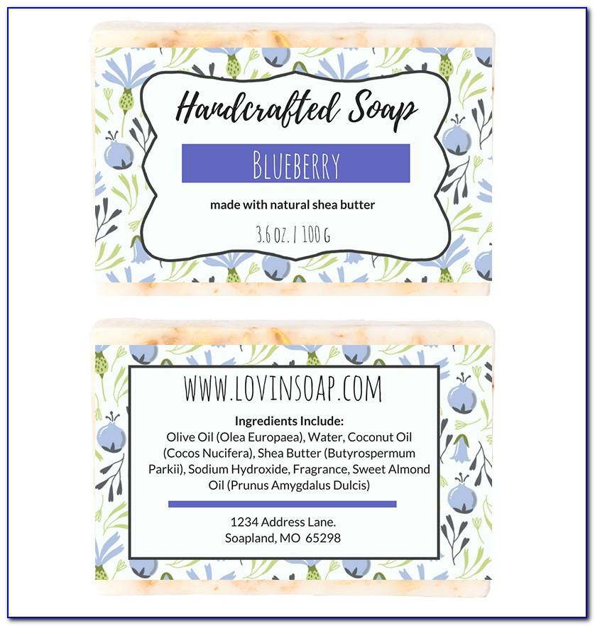 Editable Soap Label Template Free