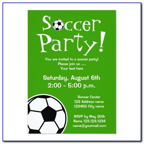Editable Soccer Birthday Invitations Templates Free