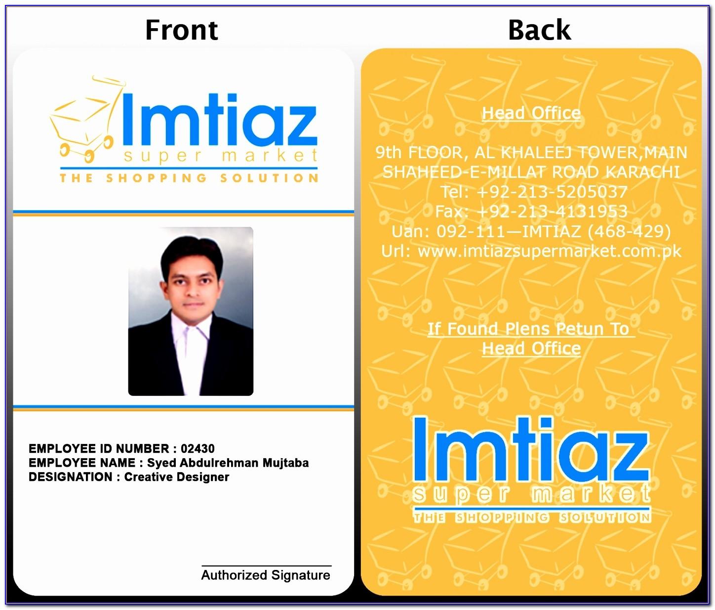 Employee Id Card Template Psd