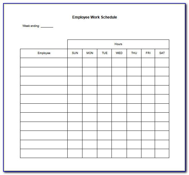 Employee Training Schedule Template Word