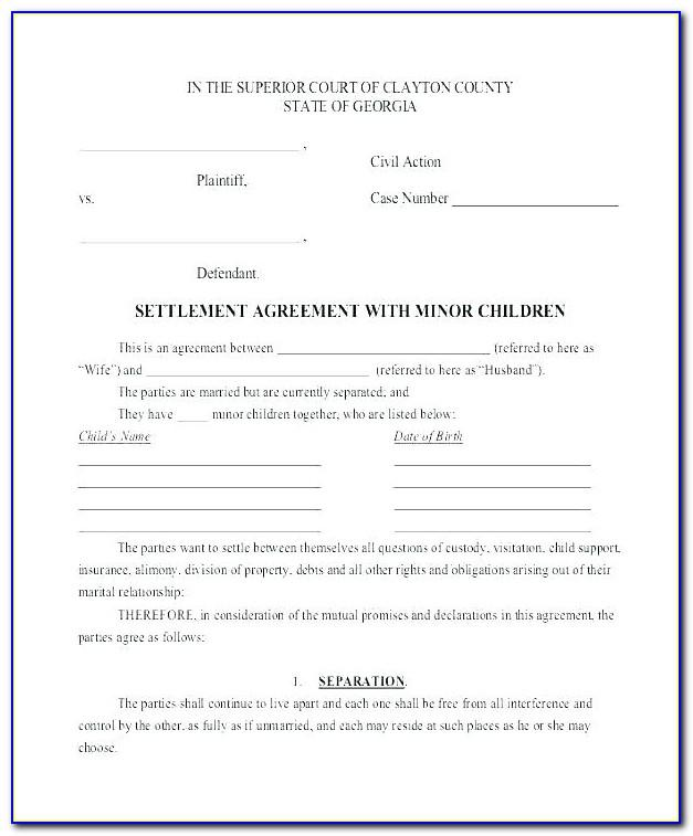 Employment Separation Agreement Template Word
