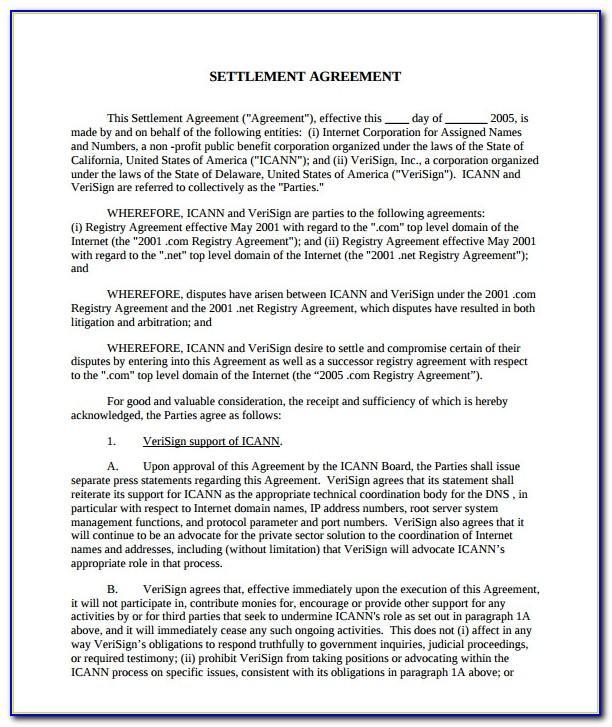Employment Settlement Agreement Letter Template
