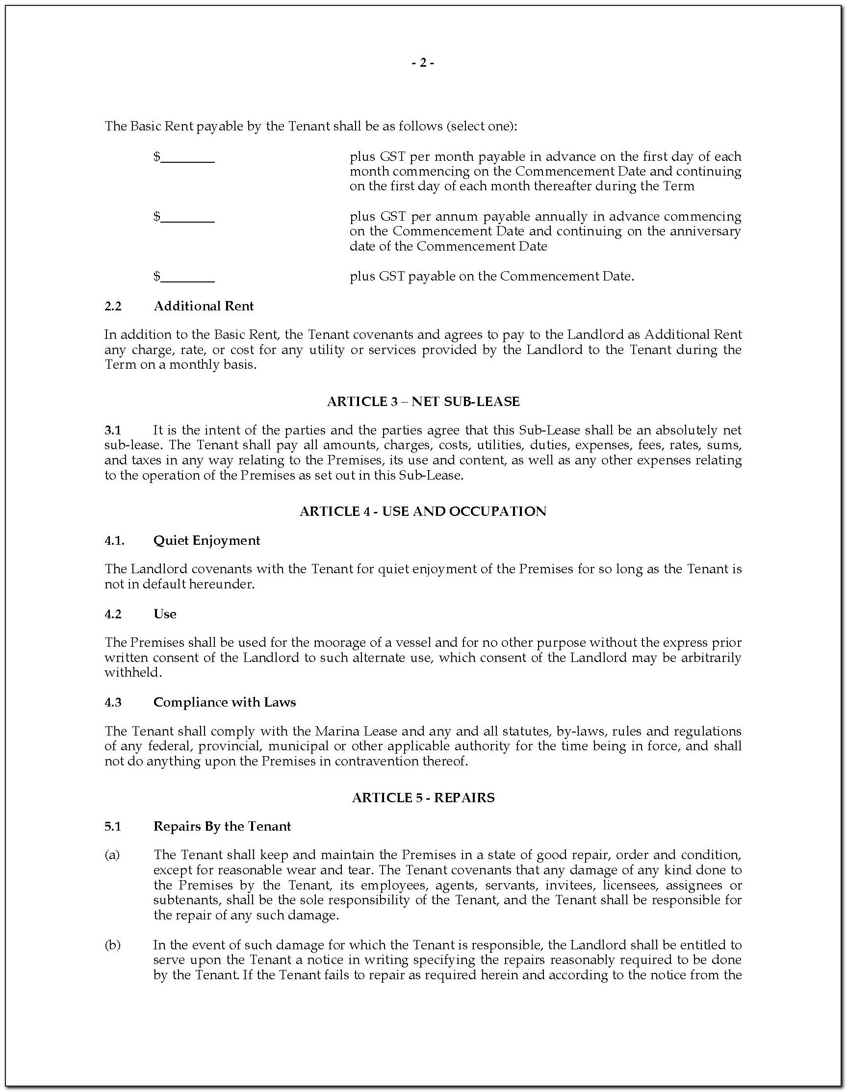 Equipment Lease Contract Template Free
