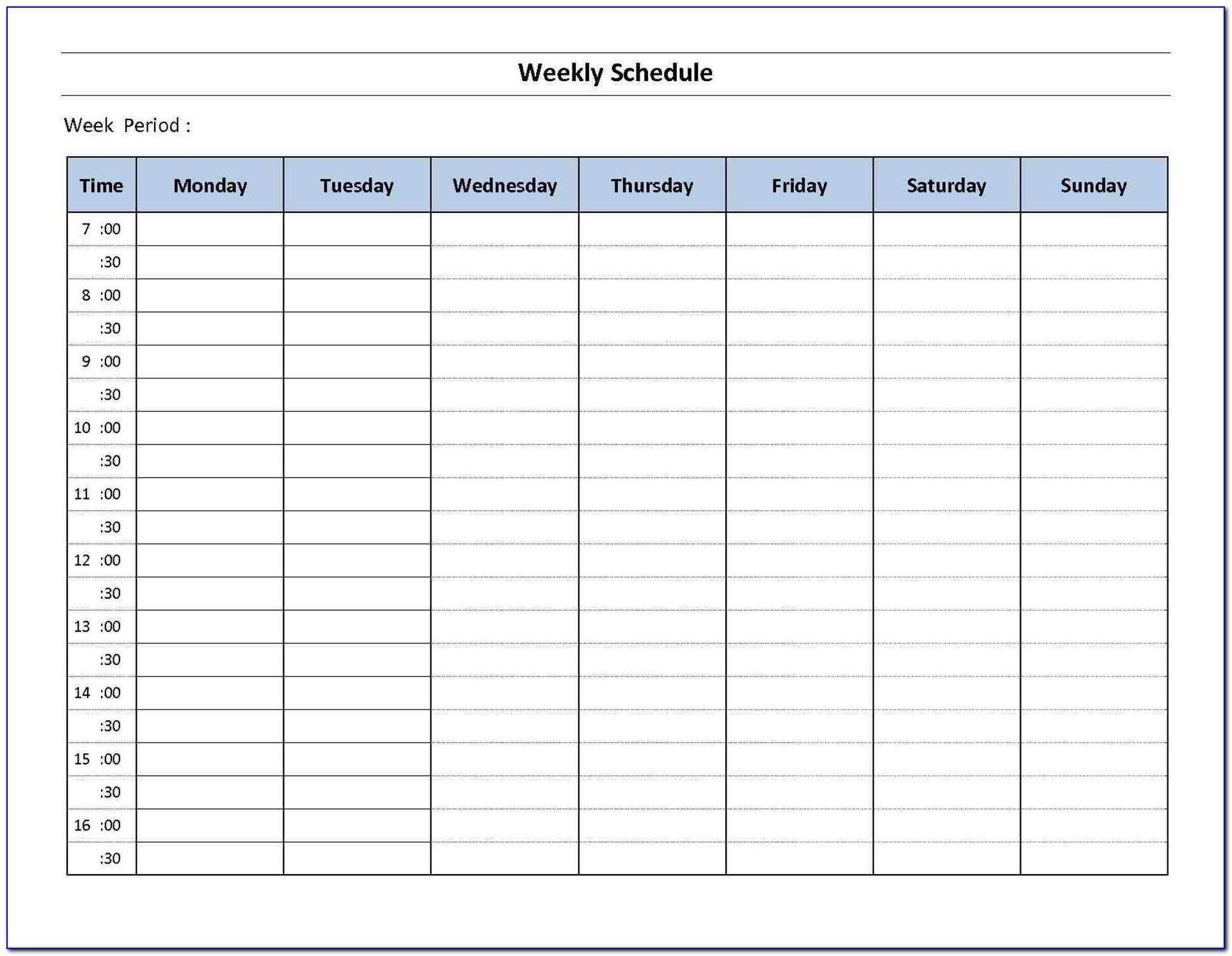 Event Calendar Maker Excel Template Download