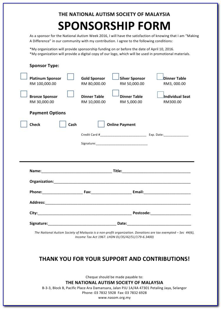 Event Sponsorship Proposal Template Doc
