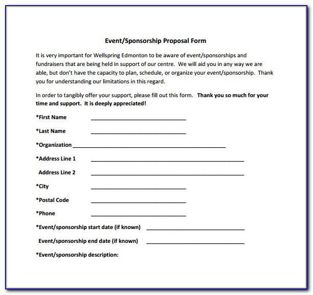 Event Sponsorship Proposal Template Pdf