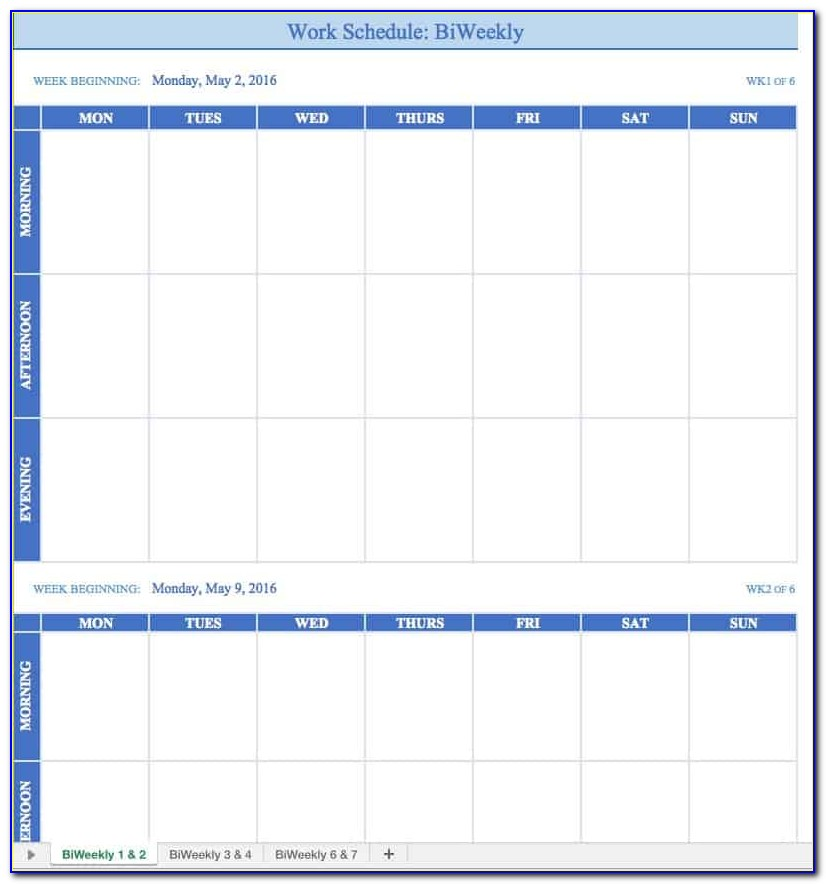 Excel Employee Schedule Template Weekly