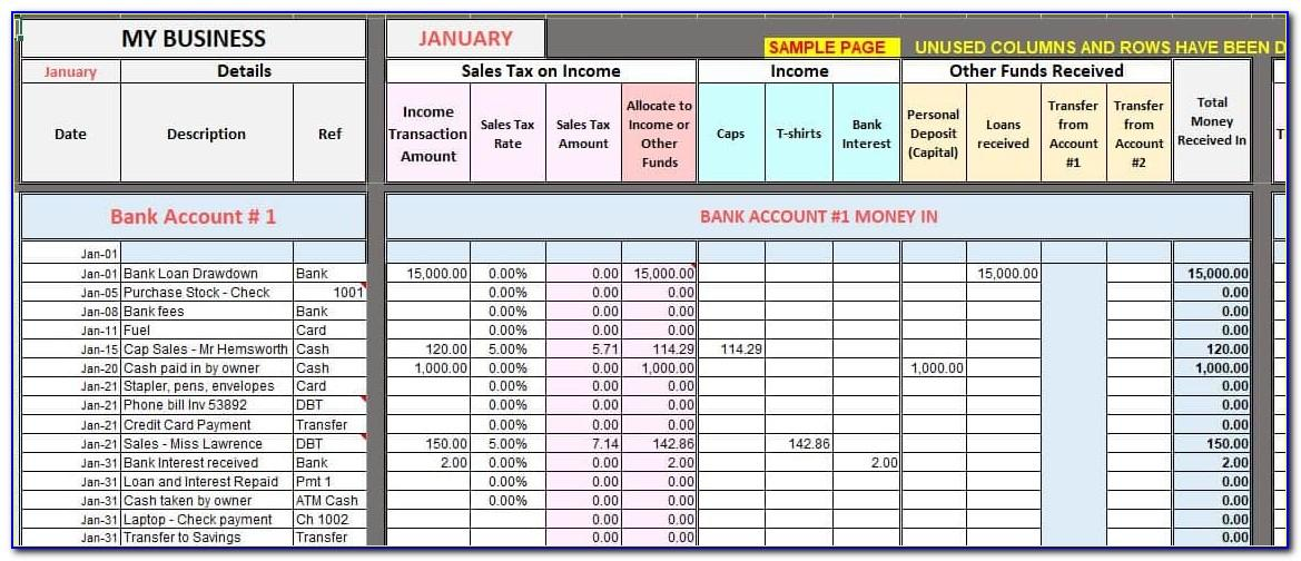 Excel Spreadsheet Templates For Retail Business