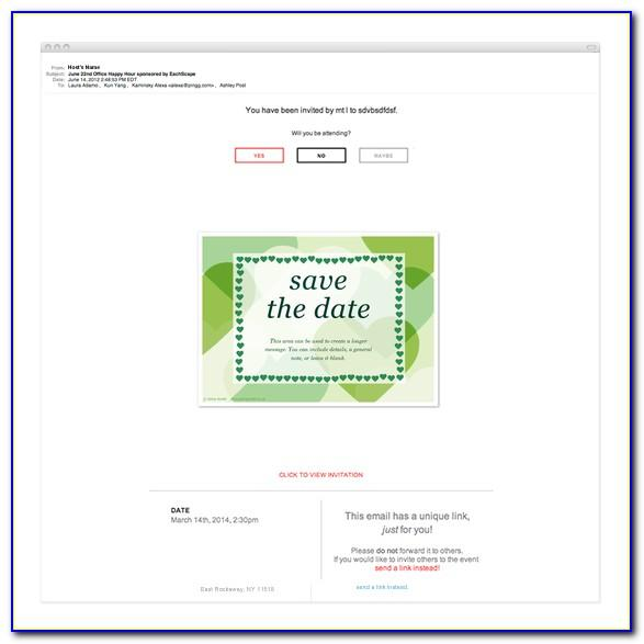 Free Business Save The Date Email Template
