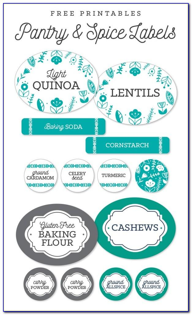 Free Printable Spice Jar Label Templates